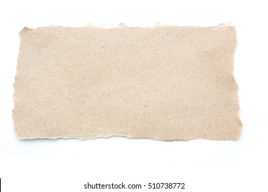 Empty blank recycle paper tear paper isolated