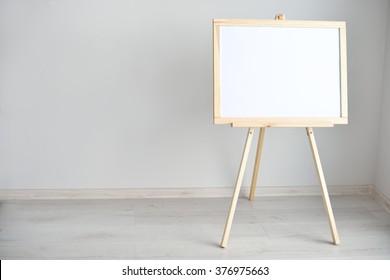 Empty blank whiteboard in the room