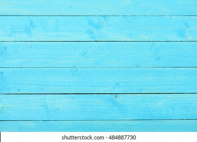Empty blue wooden table background