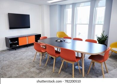 Empty boardroom at a modern business premises