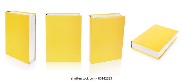 Empty books cover isolated on the white background ready for your design