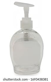 Empty Bottle of Hand Sanitizer. Sanitizer shortage.