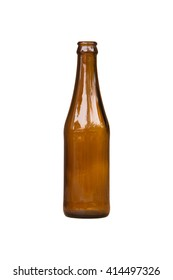 Empty bottle isolated on white
