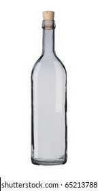 Empty bottle isolated, white background, clipping path.