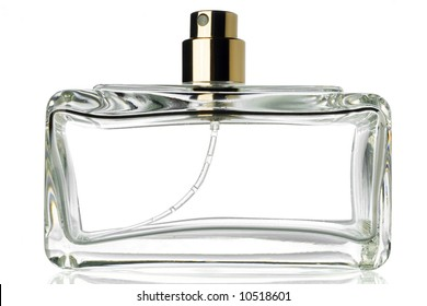 an empty bottle of perfume
