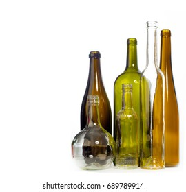 Empty bottles of studio photography.