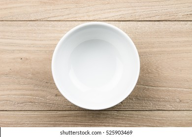 Empty bowl in the wood