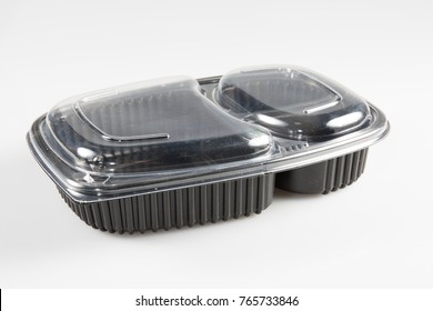 An empty box with a transparent lid to put takeaway food