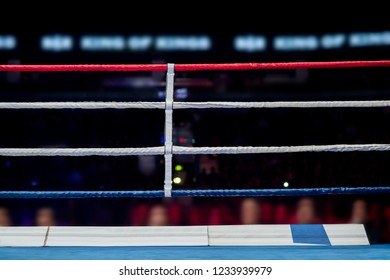 Empty boxing ring abstraction with defocused lights