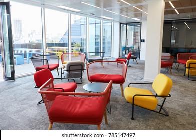 Empty break room at a modern business premises