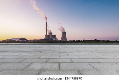 Empty brick floor and thermal power landscape