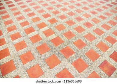 Empty brick floor,Empty brick wall square for background