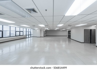 Empty bright office without furniture