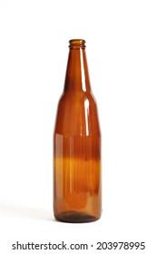 Empty brown beer bottle