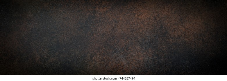 Empty brown rusty stone or metal surface texture. Long banner format. - Shutterstock ID 744287494