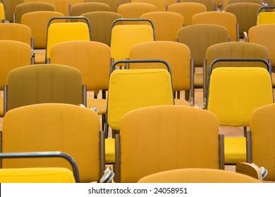 empty brown seats