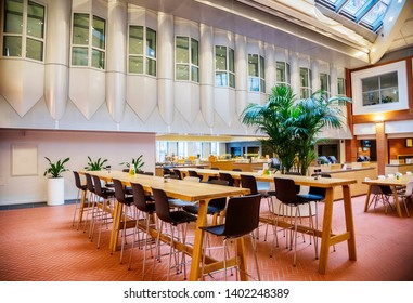 empty cafe in government ministry building, the Hague