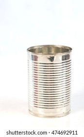 empty can with white background,selective focus