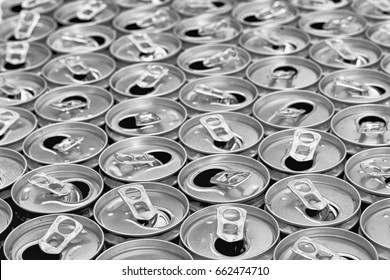 empty cans as new idea  drink background