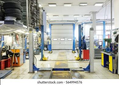empty car repair station