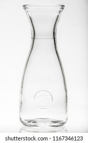 empty carafe for milk, water, juice, wine and other drinks