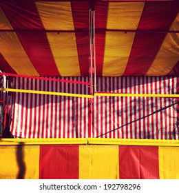 Empty carnival game stall