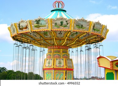 Empty carousel at the carneval