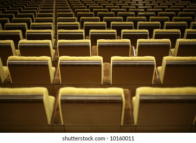 Empty chairs at cinema or theater