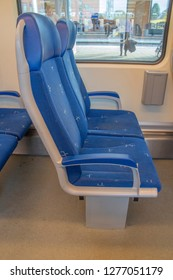 Empty Chairs Inside A NS Train At Apeldoorn The Netherlands 2018