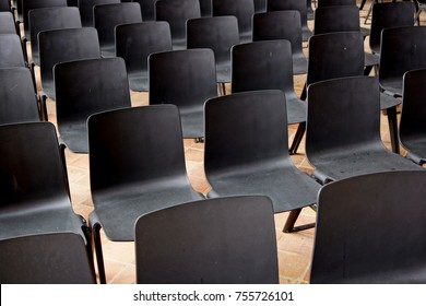 Empty chairs waiting