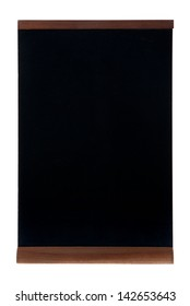 Empty chalk board (people stopper) isolated on white