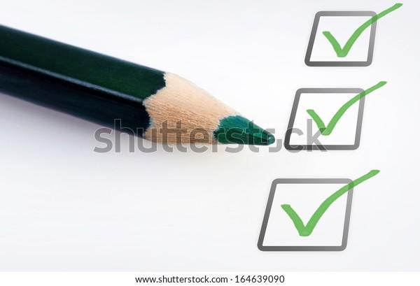 Empty checklist with copy space