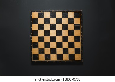 Empty chessboard. View Top