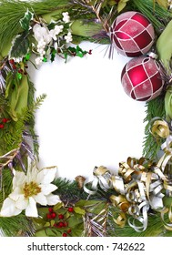 empty christmas frame for your pictures or writing (vertical)