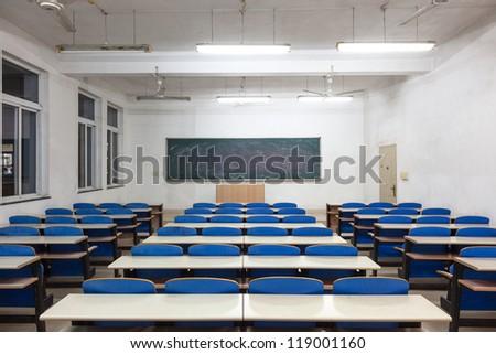 empty classroom blank blackboard stock photo edit now 119001160