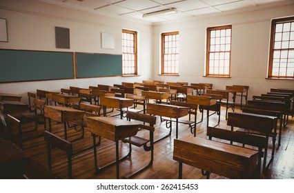 Empty classroom at the elementary school