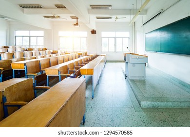 Empty classroom in an university.