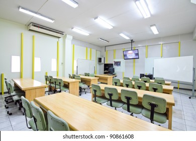 Empty classroom in university at  Thailand.