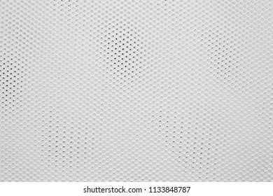 empty and clean background or wallpaper with abstract mesh texture of fabric or textile material a closeup of white color