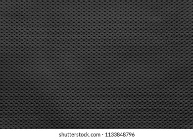 empty and clean background or wallpaper with abstract mesh texture of fabric or textile material a closeup of black color