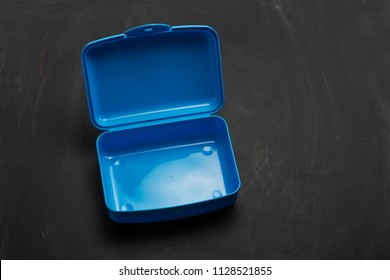 Empty clean school plastic lunch box
