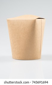 Empty clear noodle carton box mock upon white background