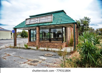 An empty closed down Restaurant Building