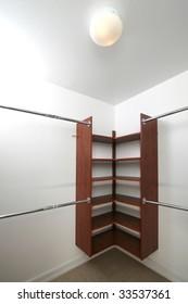 Empty closet for storage/interior design presentation