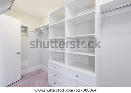 Delicieux Empty Closet, Working Closet, Cupboard In Bedroom.