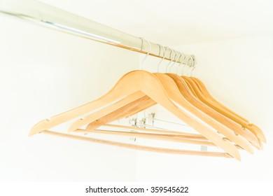 Empty clothes hanger in closet - Vintage filter