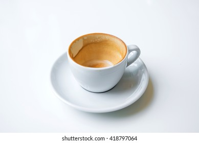 Empty coffee cup after drink