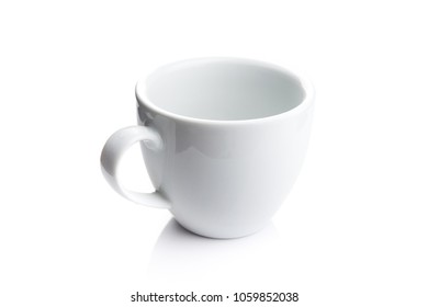 empty coffee cup isolated on a white background