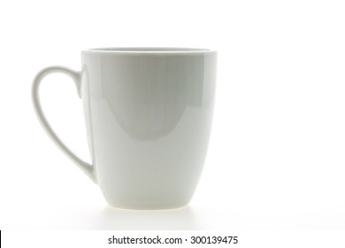 Empty coffee cup or coffee mug isolated on white background