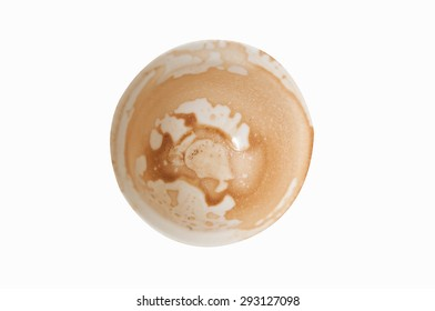 Empty coffee cup on white isolation background